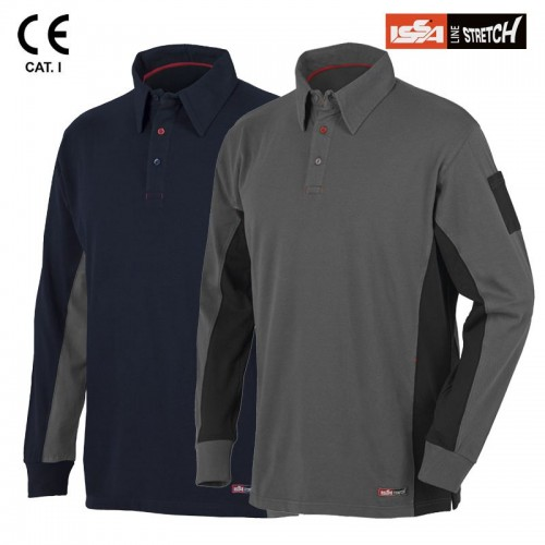 Tricou POLO ML PINUS stretch cu maneca lunga